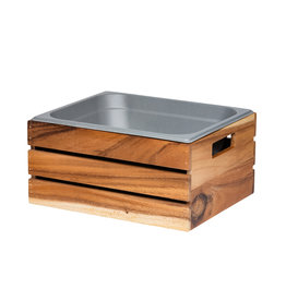 Stylepoint Acacia wood box GN 1/2 32,5 x 26,5 x 15,3 cm