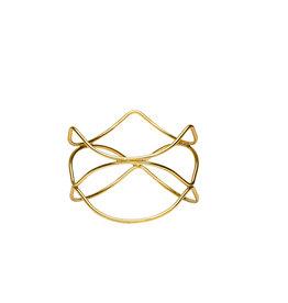 Stylepoint Buffetverhoger anti-slip goud 21x21x15