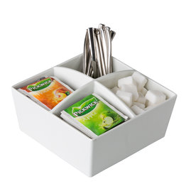 Stylepoint 4-compartment tea & sugar holder 15,5 cm