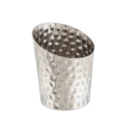 Stylepoint Stainless Steel serving cup hammered angled 9,5 cm