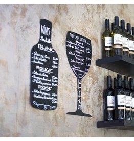 Stylepoint Krijtbord voor op muur wijnfles 30 x 50 cm