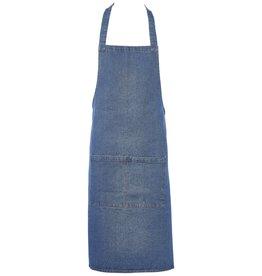 Stylepoint Washed denim bib apron 70 x 90 cm