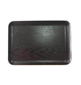 Teaclassix Rechthoekig dienblad antislip 27x20cm Black Wood