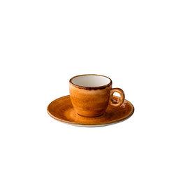 Stylepoint Jersey espresso kop stapelbaar oranje 80 ml