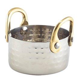 Stylepoint Gehamerd pannetje met bronzen handvaten 7,5x4cm