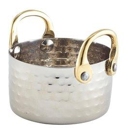 Stylepoint Gehamerd pannetje met bronzen handvaten 8,2x5cm