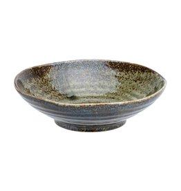 Tokyo Design Studio Shinryoku Green Shallow Bowl 17x4.9cm