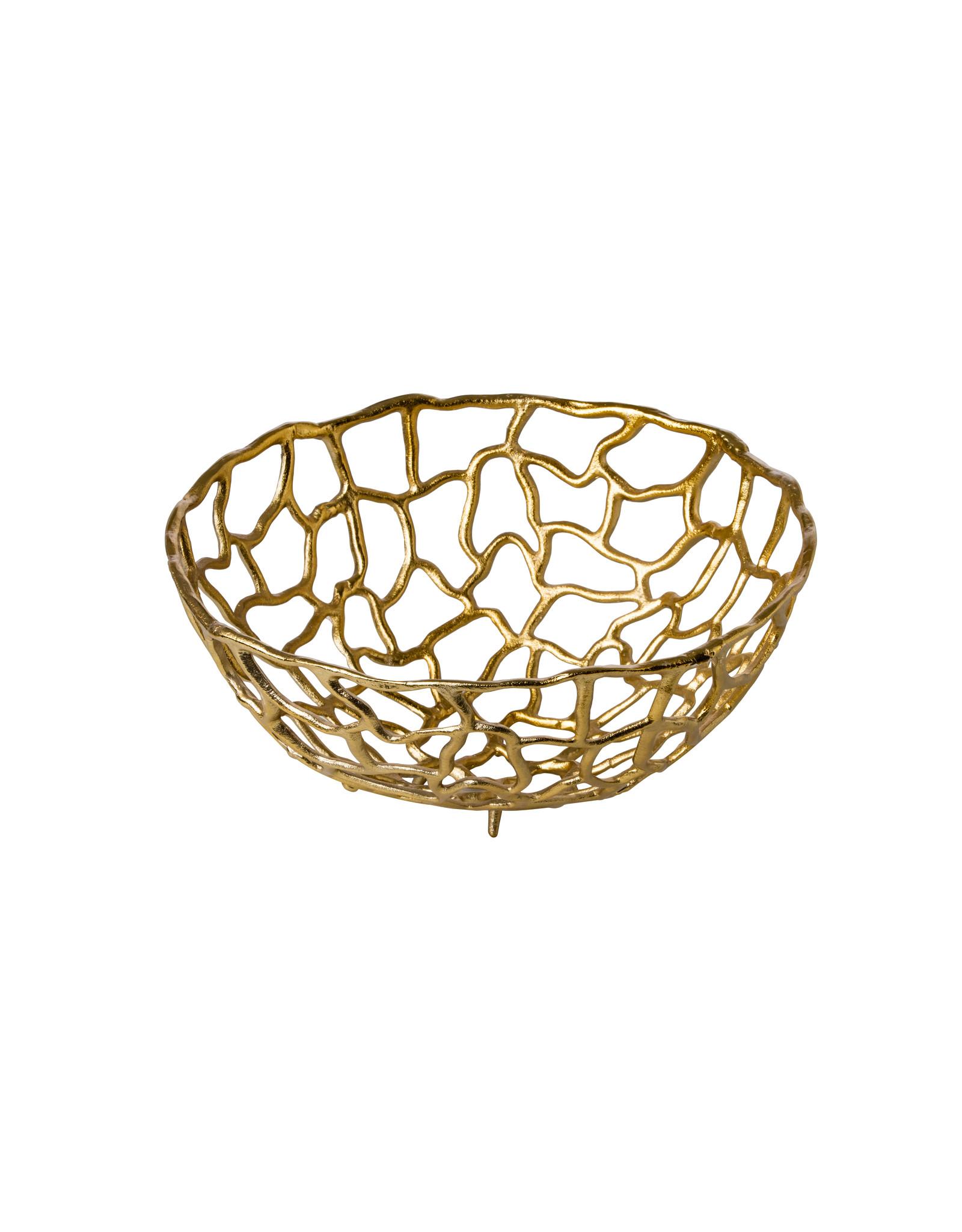 Stylepoint Aluminum basket gold Ø38 cm
