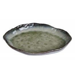 Tokyo Design Studio Yamasaku Organic Glassy Green bladvormig bord 26x18.5x3.5cm