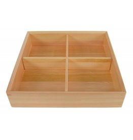 Tokyo Design Studio Kitchen Bento Box wood 25.5x25.5x5.8cm 27046 1/7