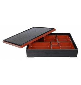 Tokyo Design Studio ABS Lacquerware Bento Box 30 x 24cm zwart/rood