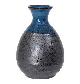 Tokyo Design Studio Sake fles 8x12.5cm blauw/zwart