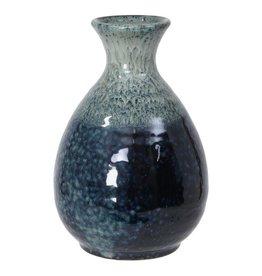 Tokyo Design Studio Sake fles 8x12.5cm wit/blauw