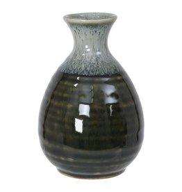 Tokyo Design Studio Sake fles 8x12.5cm wit/groen