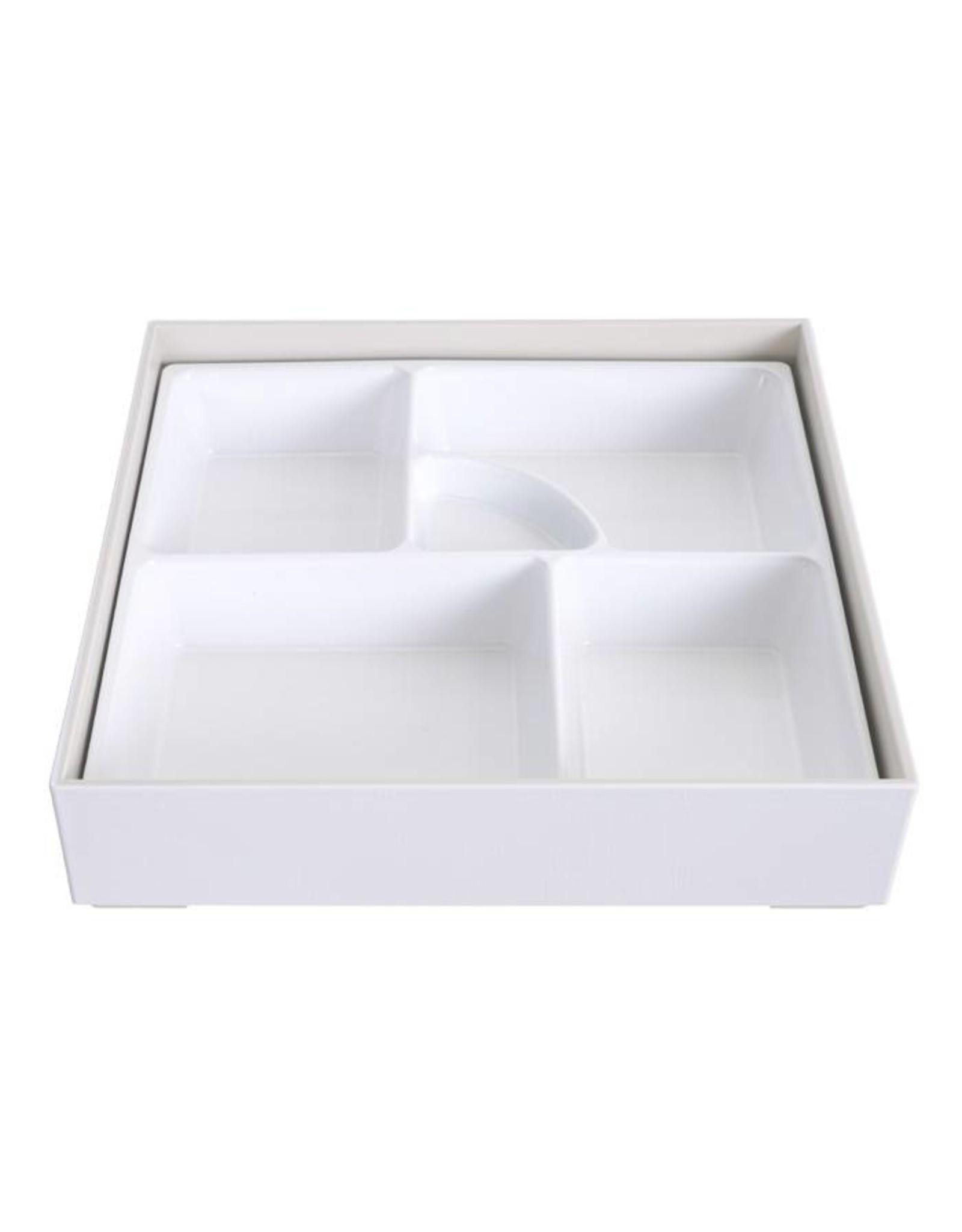 Tokyo Design Studio ABS Lacquerware Bento Box 25.5x25.5cm wit
