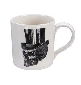 Tokyo Design Studio Skull Design Mug 9x9,3cm, 400ml, Top Hat