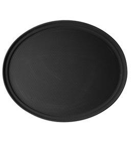 Stylepoint Cambro ovaal dienblad anti-slip zwart 56x68,5cm