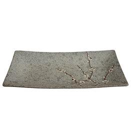 Tokyo Design Studio Grey Soshun Oblong Plate 35x19cm