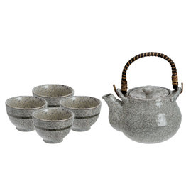 Tokyo Design Studio Grey Soshun Tea Set 16x14x11cm 0.7L  w/4 Cups
