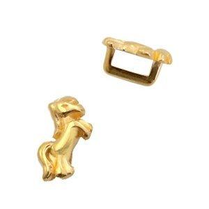 Goud Leerschuiver metaal unicorn Ø5x2mm Goud DQ