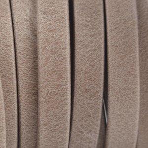Bruin Plat nappa Leer Luxe Sand beige 5x1.5mm - prijs per cm