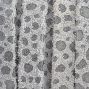 Grijs Plat nappa Leer Grijs spots 5x1.5mm - prijs per cm