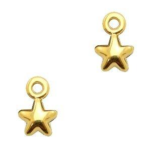 Goud Bedel mini sterretje goud Goud DQ 7x4mm