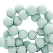 Blauw Acryl kralen mat Aqua mist blue 8mm - 50 stuks