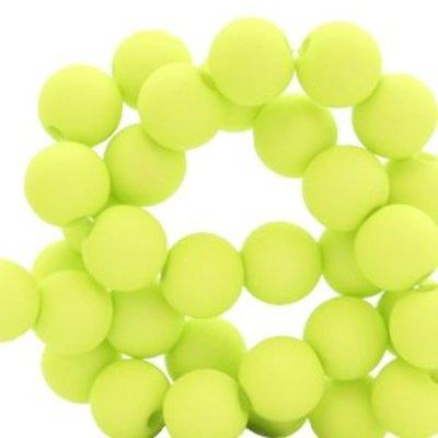 Groen Acryl kralen mat Lime green 8mm - 50 stuks