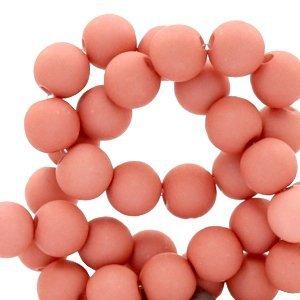 Roze Acryl kralen mat Old pink 8mm - 50 stuks