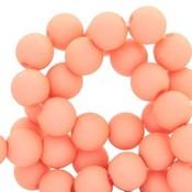 Oranje Acryl kralen mat Salmon rose 8mm - 50 stuks