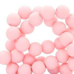 Roze Acryl kralen Baby pink 6mm - 50 stuks