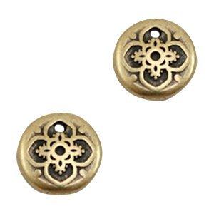 Antiek Goud Brons Bedel muntje mandala Brons DQ 9mm