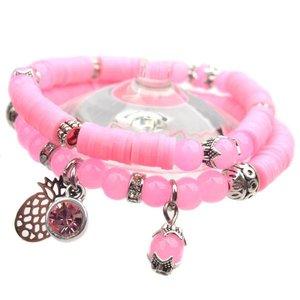 Roze DIY pakketje Spring discs Light Pink - 2 armbanden