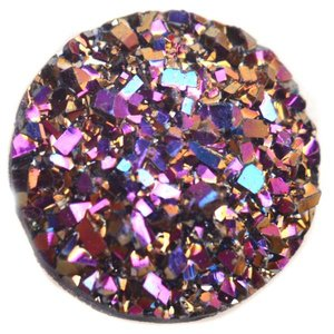 Paars Druzy acryl cabochon Paars AB 12mm
