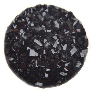 Zwart Druzy acryl cabochon Zwart 12mm