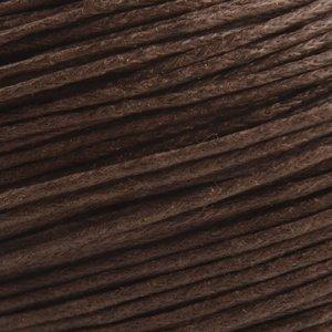 Bruin Waxkoord bruin 1mm - 10 meter