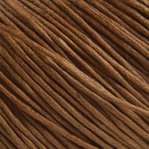 Bruin Waxkoord licht bruin 1mm - 10 meter