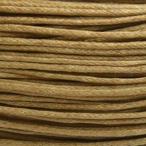 Bruin Waxkoord beige bruin 1mm - 10 meter