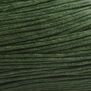 Groen Waxkoord donker groen 1mm - 10 meter
