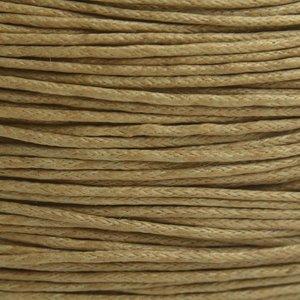 Bruin Waxkoord licht beige bruin 1mm - 10 meter