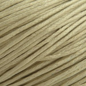 Bruin Waxkoord beige wit 1mm - 10 meter