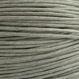 Grijs Waxkoord licht grijs 1mm - 10 meter