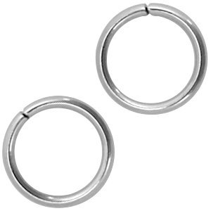 Rvs Ringetjes RVS 8x1mm - ±100 stuks