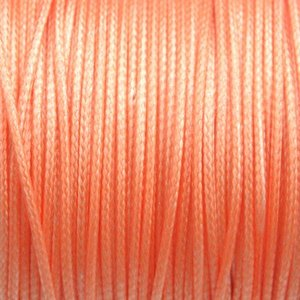 Oranje Waxkoord shiny oranje 1mm - 8 meter
