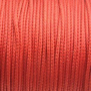 Oranje Waxkoord shiny dark orange 1mm - 8 meter