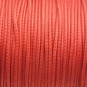 Oranje Waxkoord shiny dark orange 1mm - 8 meter