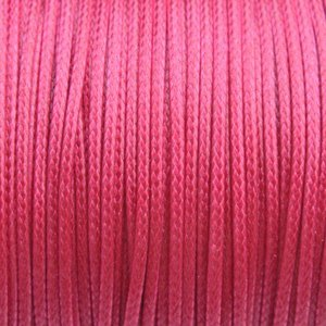 Roze Waxkoord shiny Dark pink 1mm - 8 meter