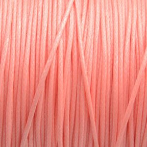 Oranje Waxkoord shiny light coral 1mm - 8 meter
