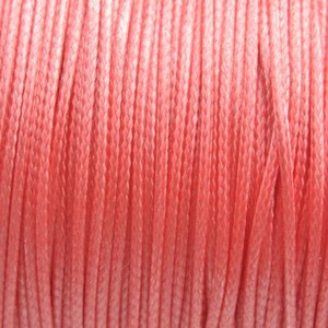 Roze Waxkoord shiny rose peach 1mm - 8 meter